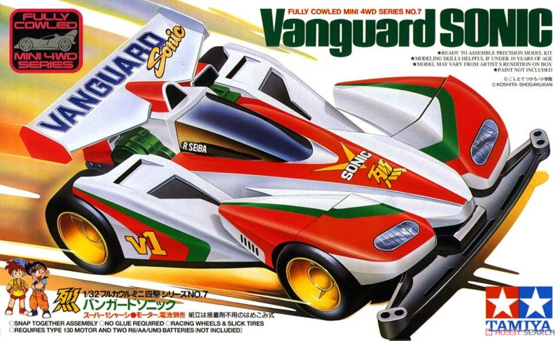 gambar tamiya mini 4wd Vanguard Sonic