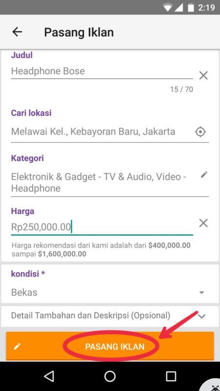 √ Cara Pasang Iklan di OLX Lewat Smartphone