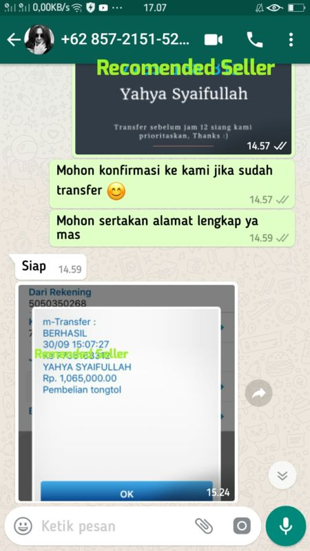 Testimoni Grosir Tongtol Murah